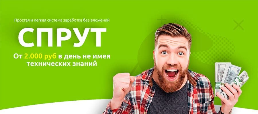 Спрут. От 2000 рублей в день не имея технических знаний